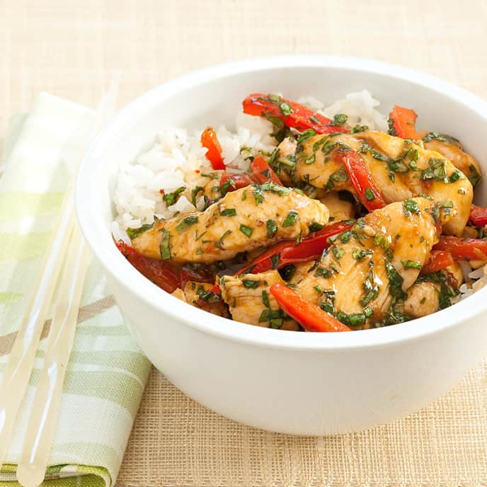 Stir-Fried Chicken and Basil