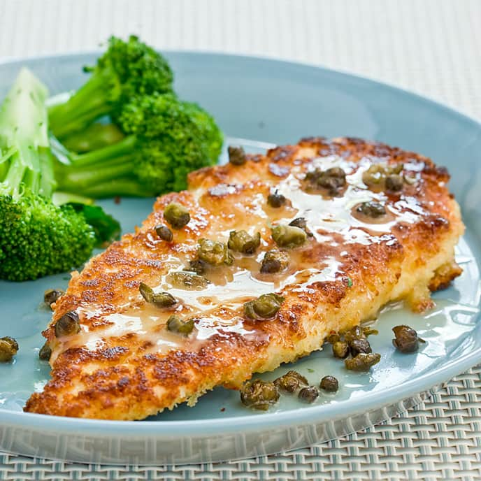 Chicken Cutlets with Lemon and Capers