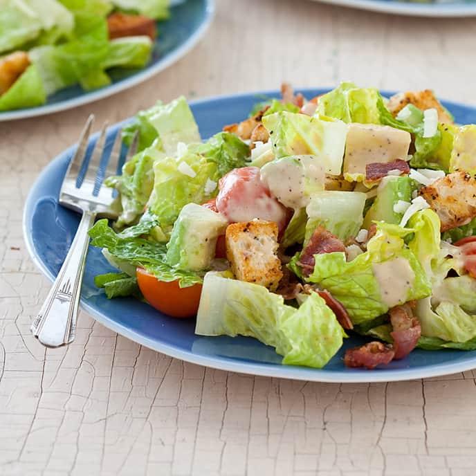 Bacon-Avocado Caesar Salad