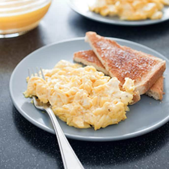 Perfect Scrambled Eggs for One
