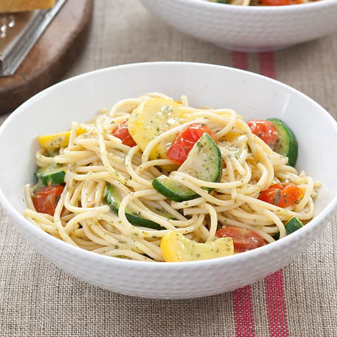 Spaghetti with Summer Vegetable Sauce