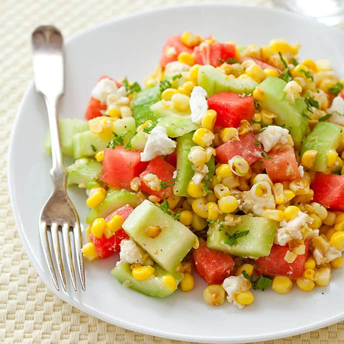 Watermelon-Feta Fresh Corn Salad