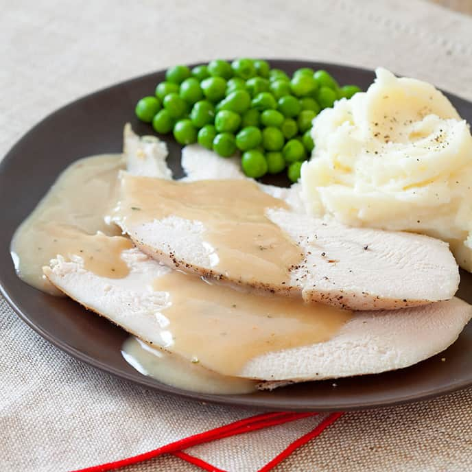Slow-Cooker Turkey Breast with Gravy