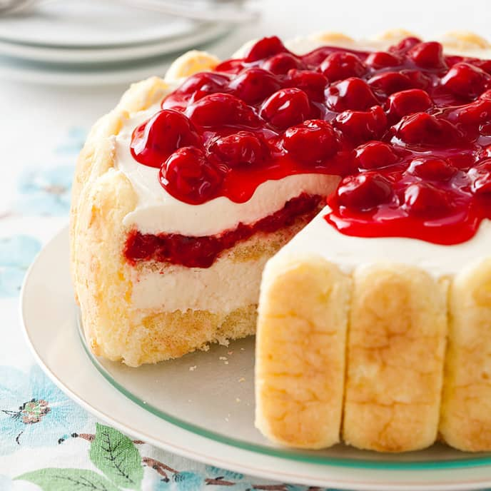 Whipped Cream-Cherry Cheesecake