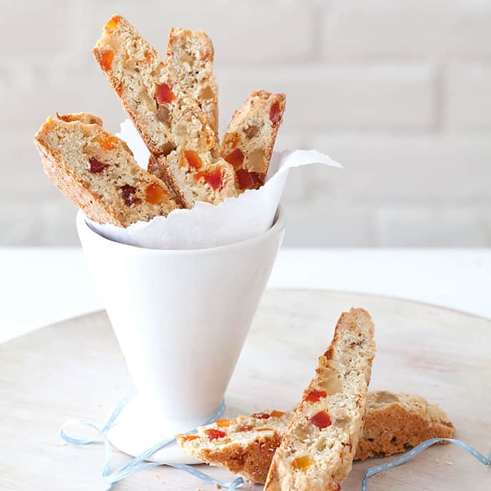 Dried Fruit and Coconut Biscotti