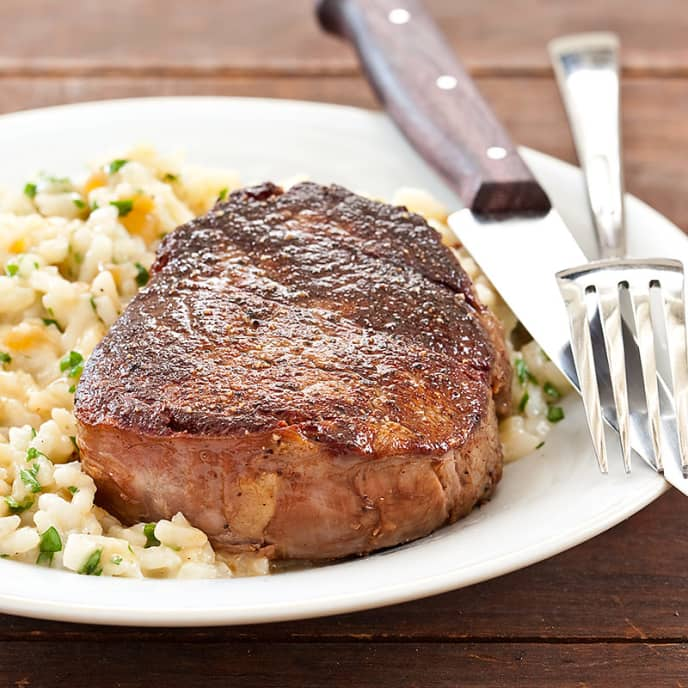 Beef Tenderloin with Parmesan Risotto