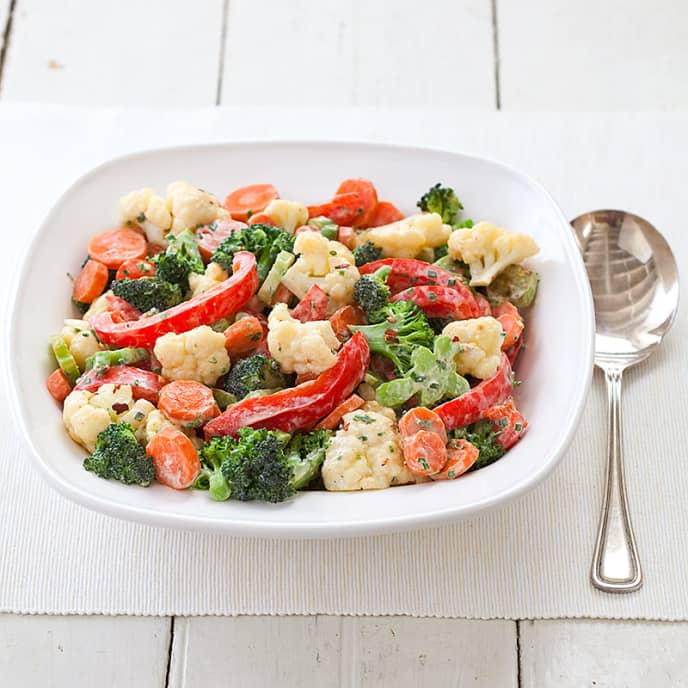 Mixed Vegetables with Instant Cream Sauce