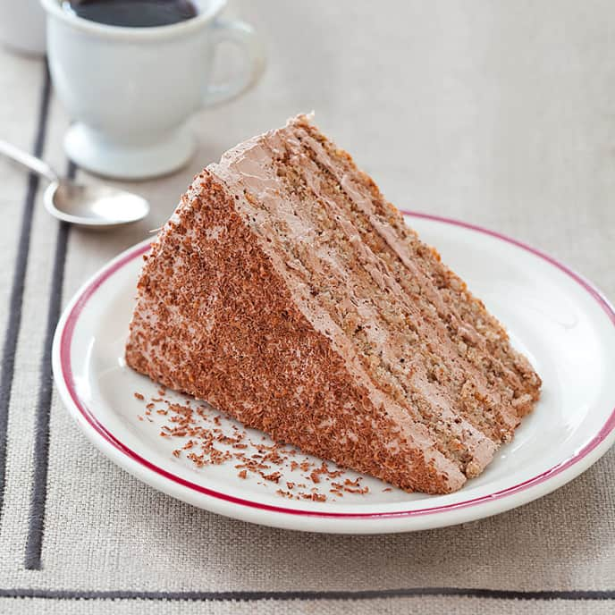 Grated Bread and Chocolate Cake