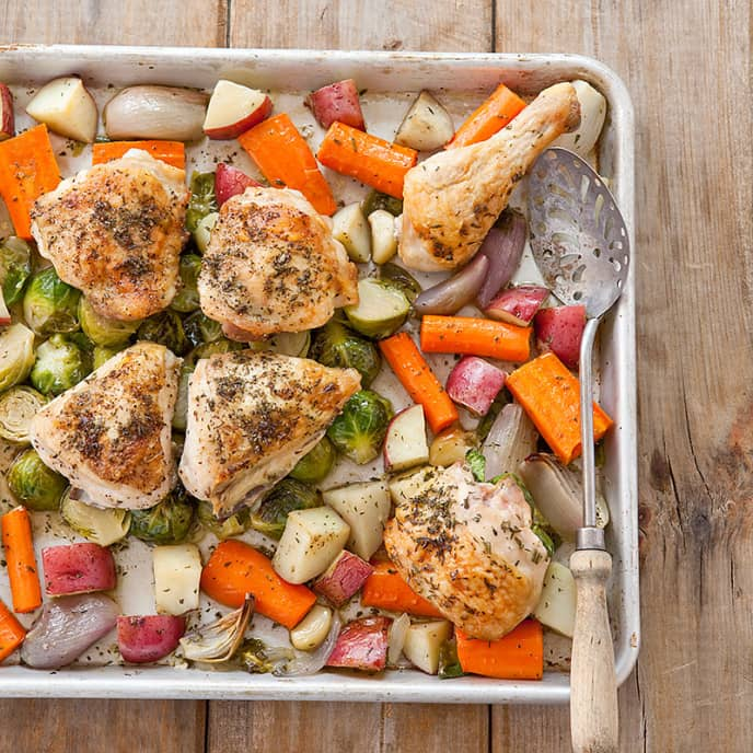 One-Pan Roast Chicken with Root Vegetables
