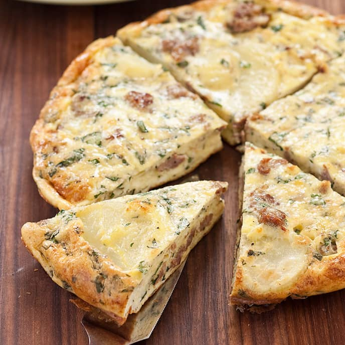 Italian Sausage and Potato Frittata