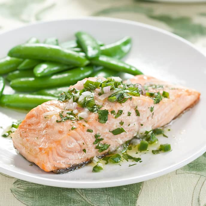 Baked Salmon With Lime Vinaigrette Cook S Country