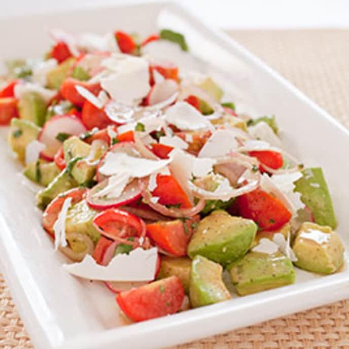 Avocado Salad with Tomato and Radish