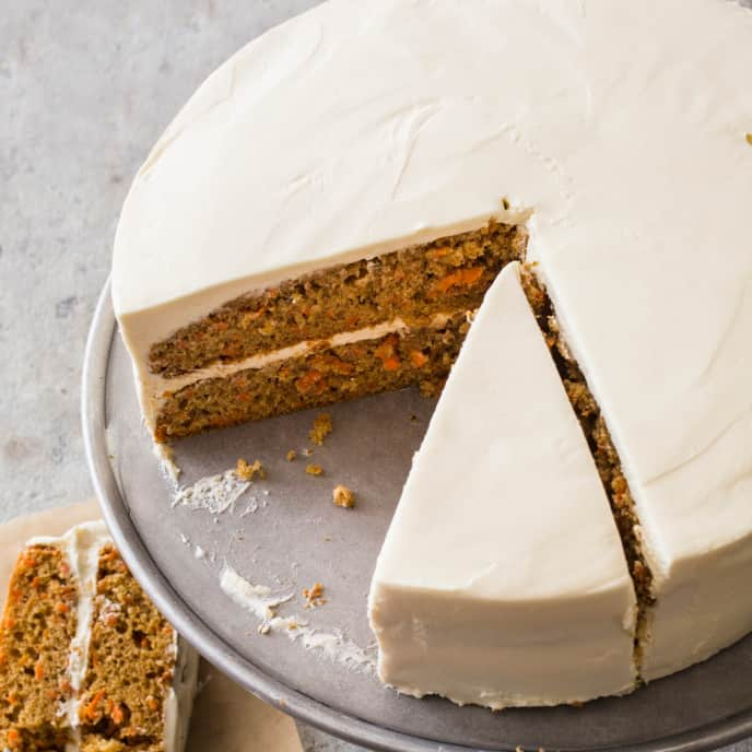 Carrot–Honey Layer Cake (Reduced Sugar)