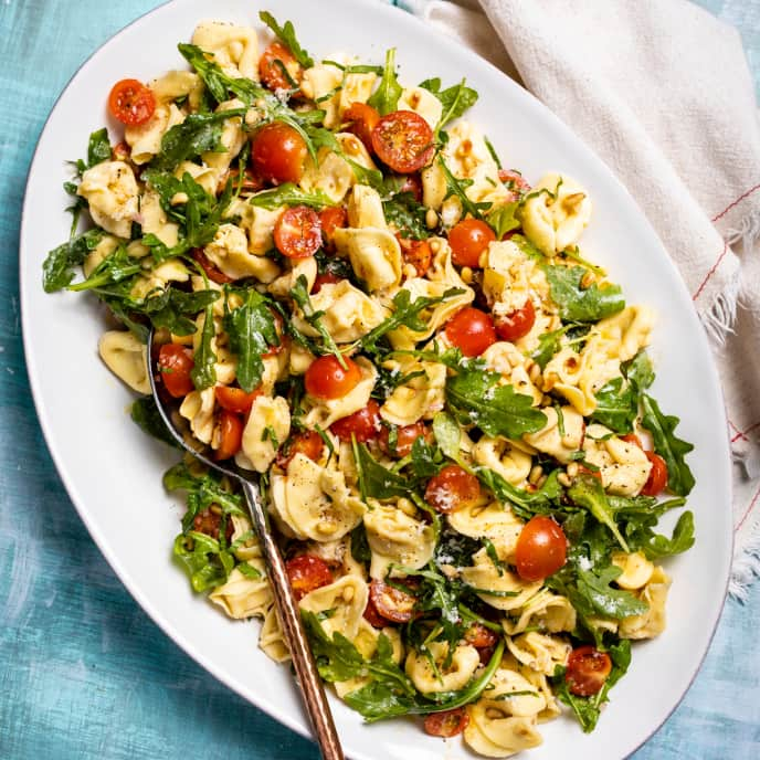 30-Minute Tortellini Salad with Cherry Tomatoes, Arugula, and Pine Nuts
