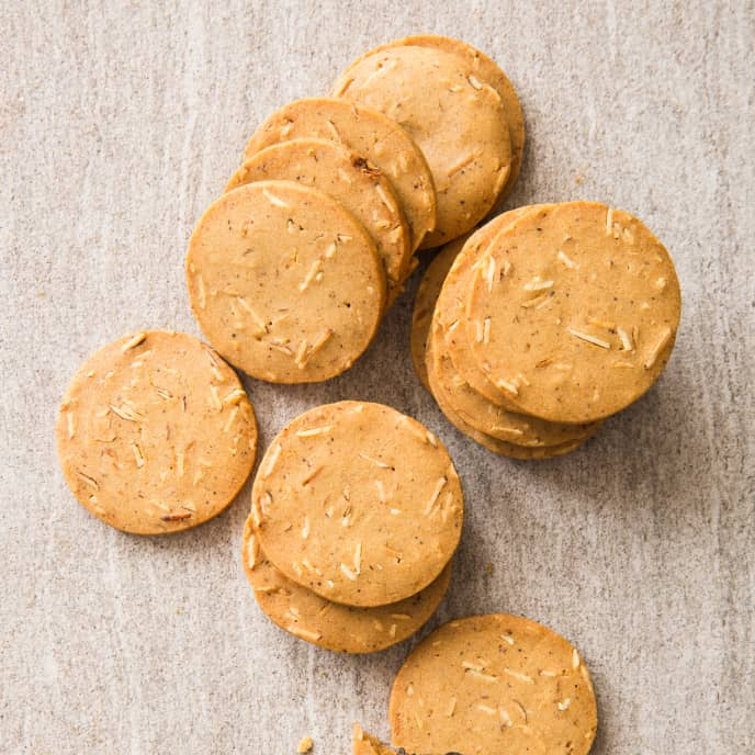 Almond–Cardamom Thins (Reduced Sugar)