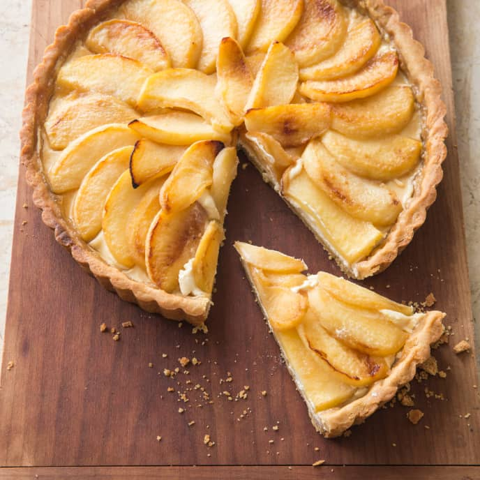 Apple, Goat Cheese, and Honey Tart (Reduced Sugar)