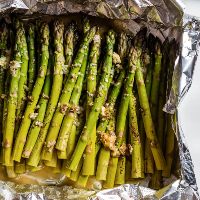 Asparagus Baked in Foil with Capers and Dill