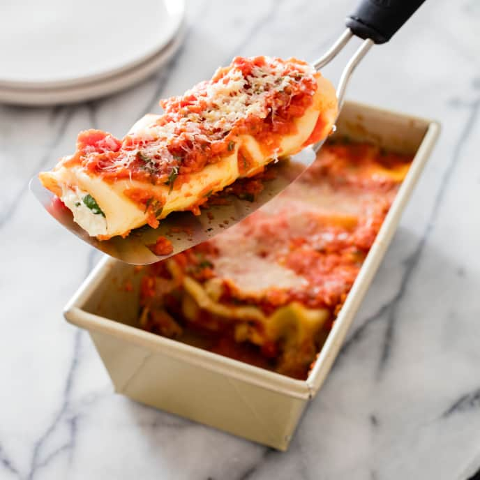 Baked Manicotti for Two