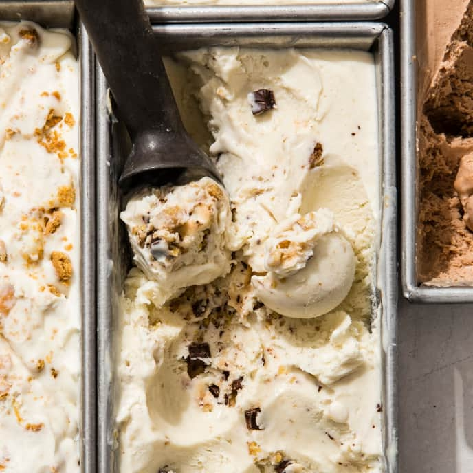 Banana-Walnut-Chocolate Chunk No-Churn Ice Cream
