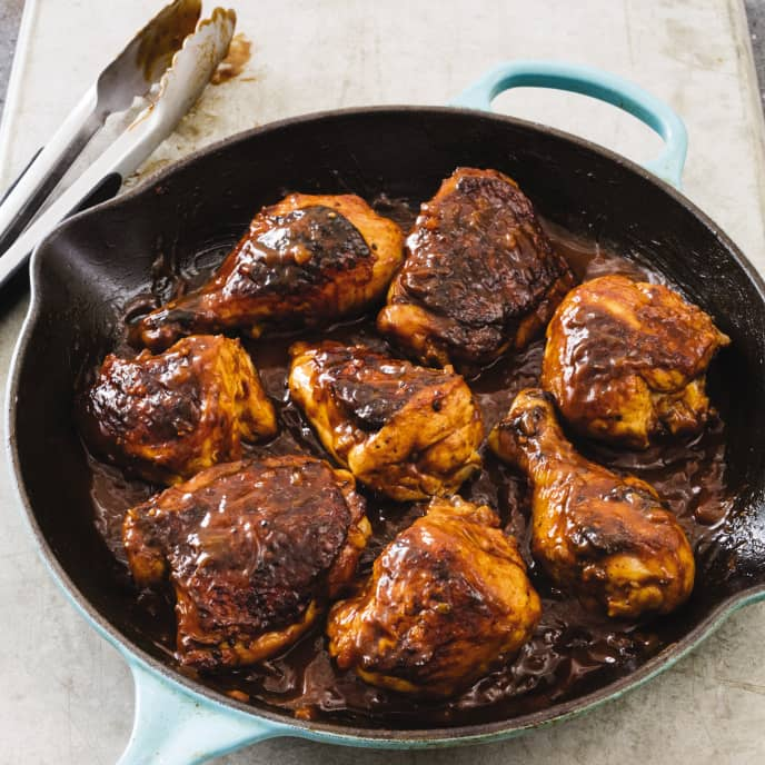 Cast Iron Indoor Barbecued Chicken