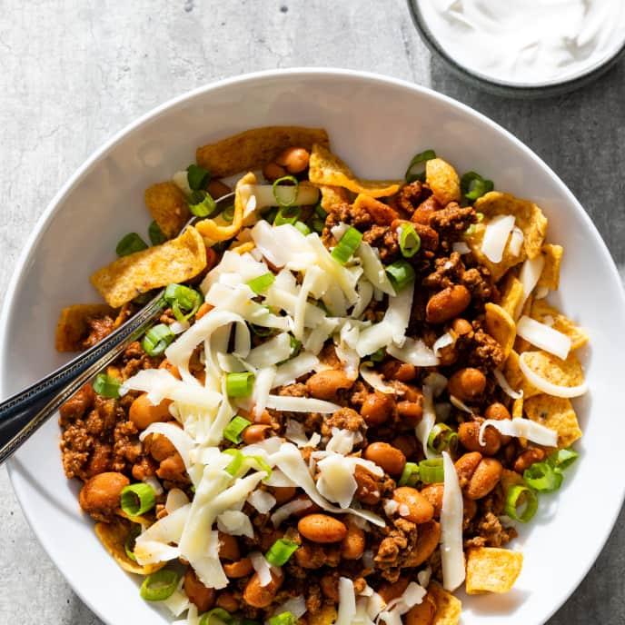Beef Chili-Frito Bowls