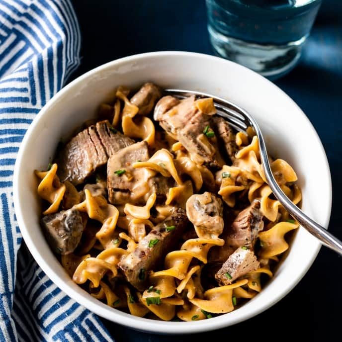 Beef Stroganoff for Two