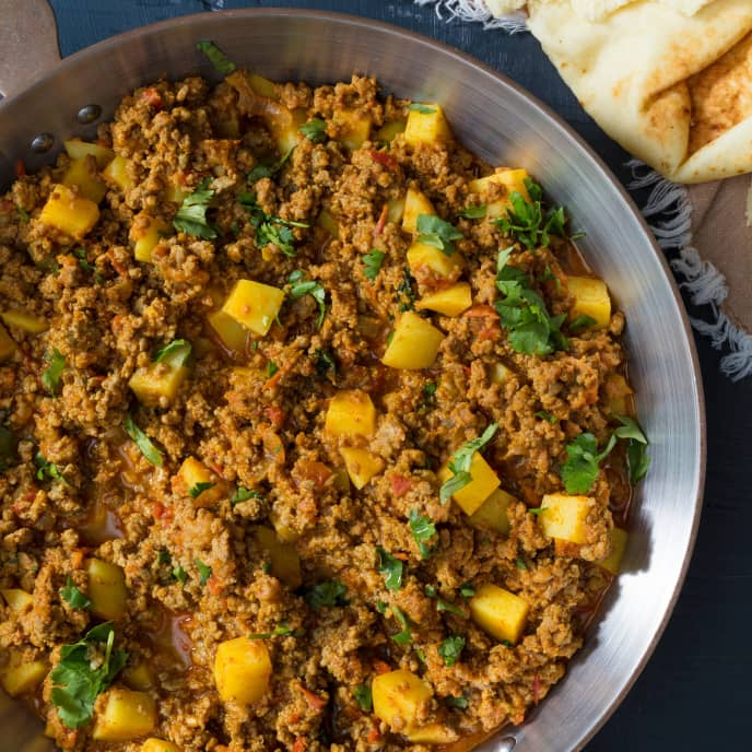 Keema Aloo (Garam Masala-Spiced Ground Beef with Potatoes) for Two