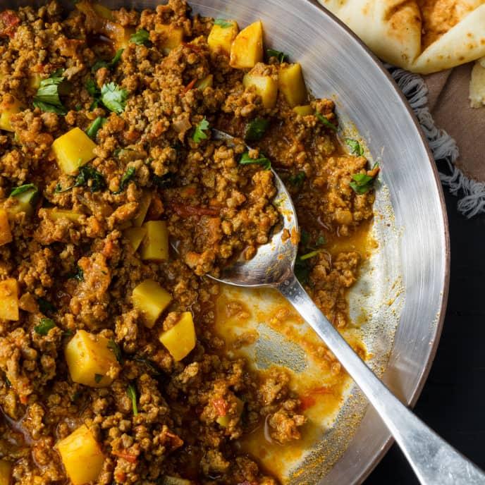 Keema Aloo (Garam Masala-Spiced Ground Beef with Potatoes)