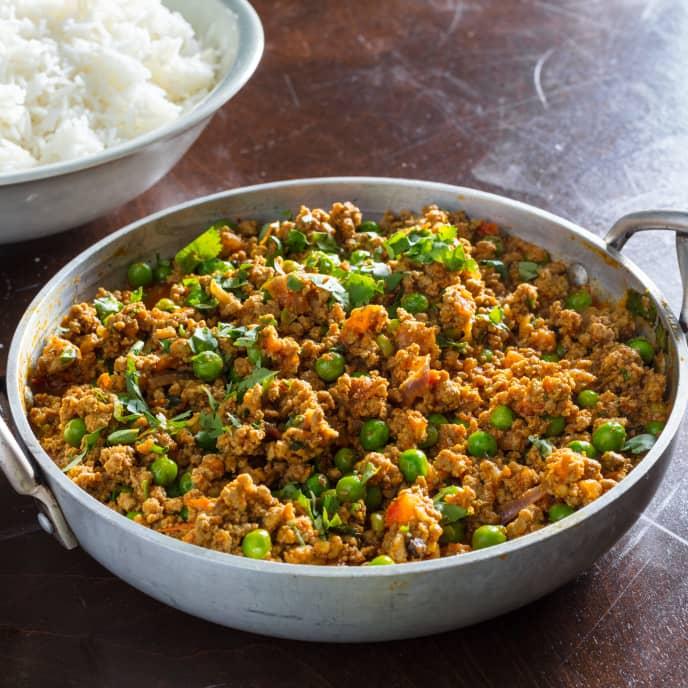 Keema Matar (Garam Masala-Spiced Ground Beef with Peas)