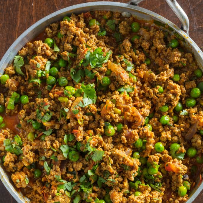 Keema Matar (Garam Masala-Spiced Ground Beef with Peas) for Two