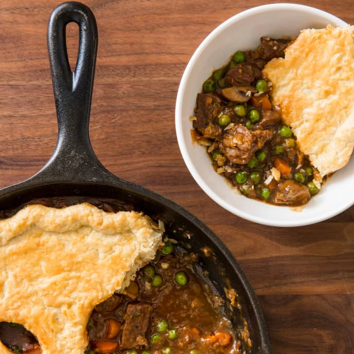 Cast Iron Beef Pot Pie