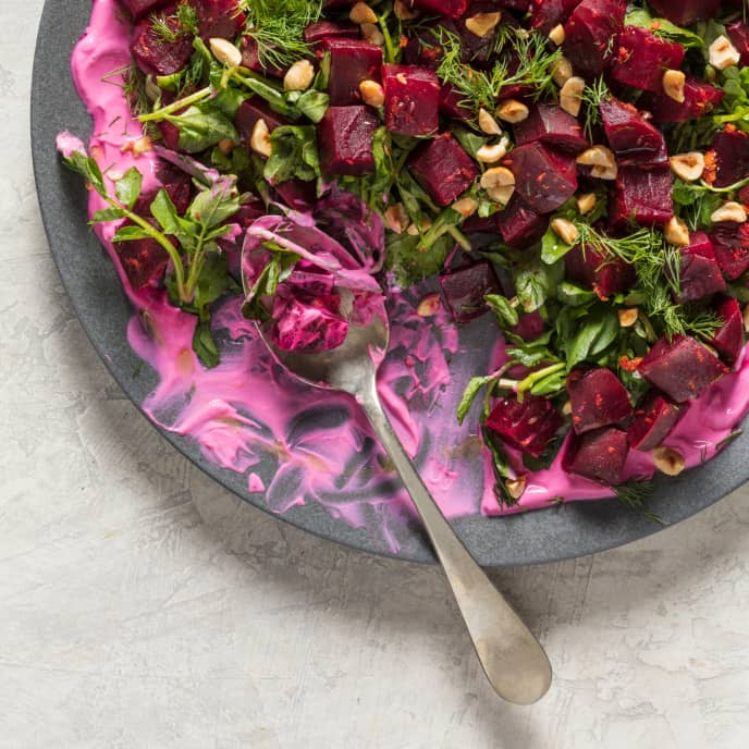 Pressure-Cooker Beet and Watercress Salad with Orange and Dill