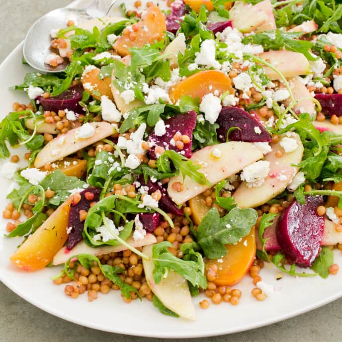 Slow-Cooker Beet and Wheat Berry Salad With Arugula and Apples