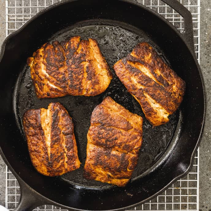 Cast Iron Blackened Snapper with Rémoulade Sauce