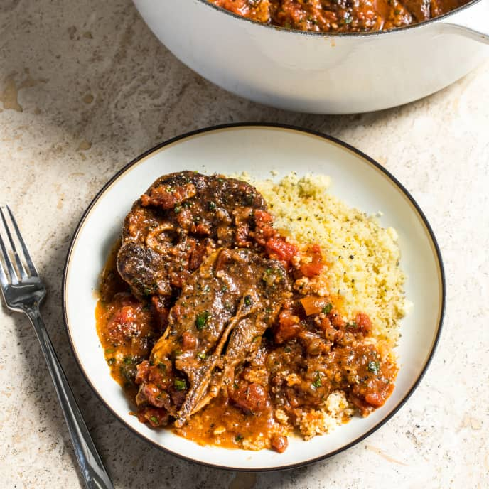 Braised Lamb Shoulder Chops with Tomatoes and Warm Spices