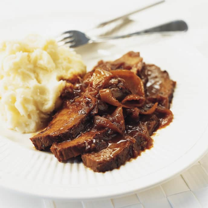 Slow-Cooker Barbecued Beef Brisket