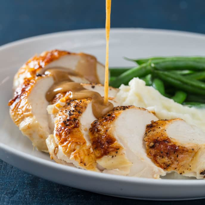 Broiled Chicken with Gravy