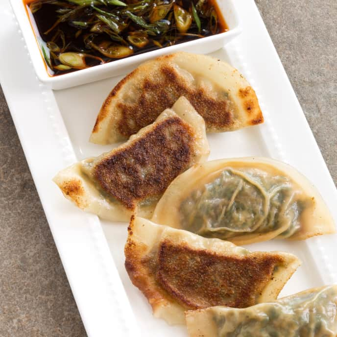 Cabbage and Mushroom Potstickers