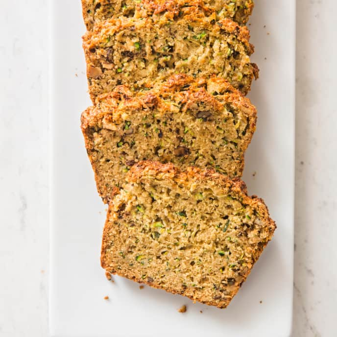 Cardamom–Spiced Zucchini Bread (Reduced Sugar)