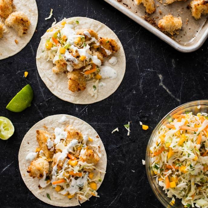 Vegan Baja-Style Cauliflower Tacos