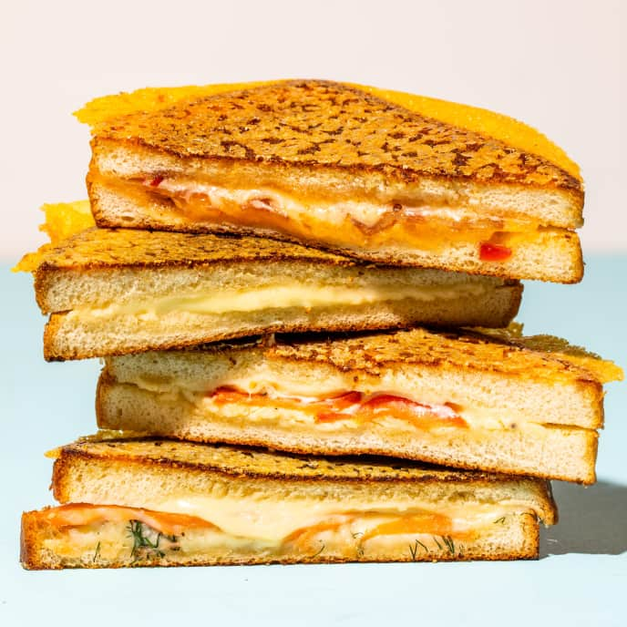 Cheddar-Crusted Grilled Cheese