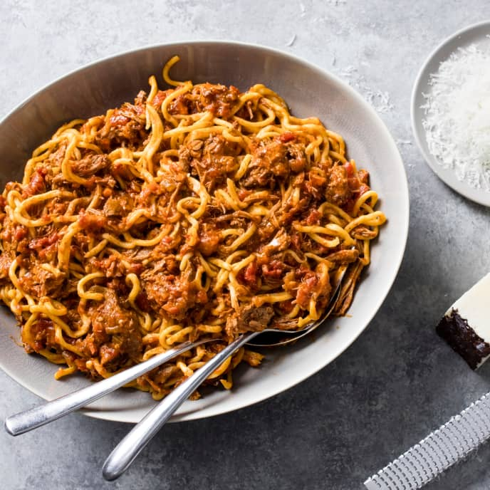 Chitarra Pasta with Lamb Ragu