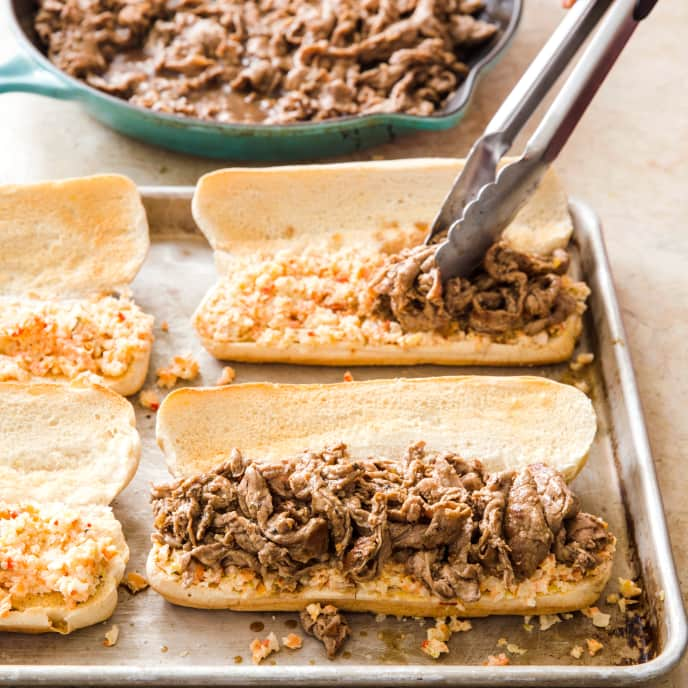 Cast Iron Chicago-Style Italian Beef Sandwiches