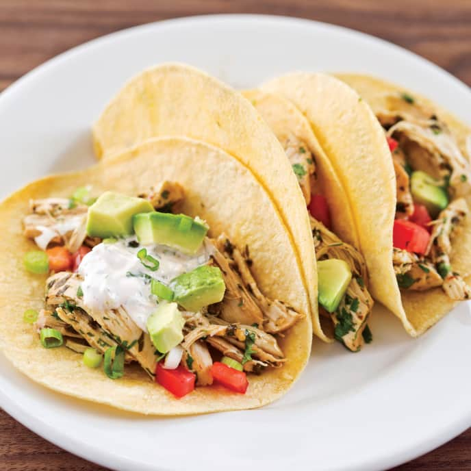 Chicken Soft Tacos for Two