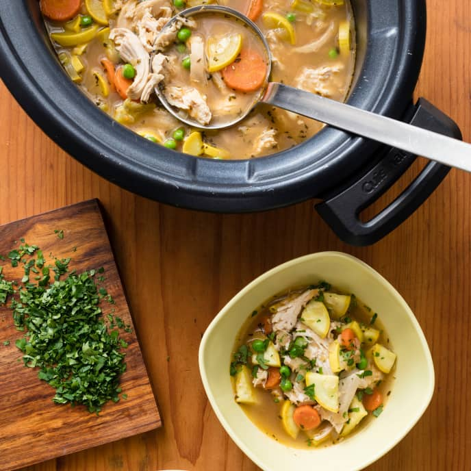 Slow-Cooker Chicken and Garden Vegetable Soup