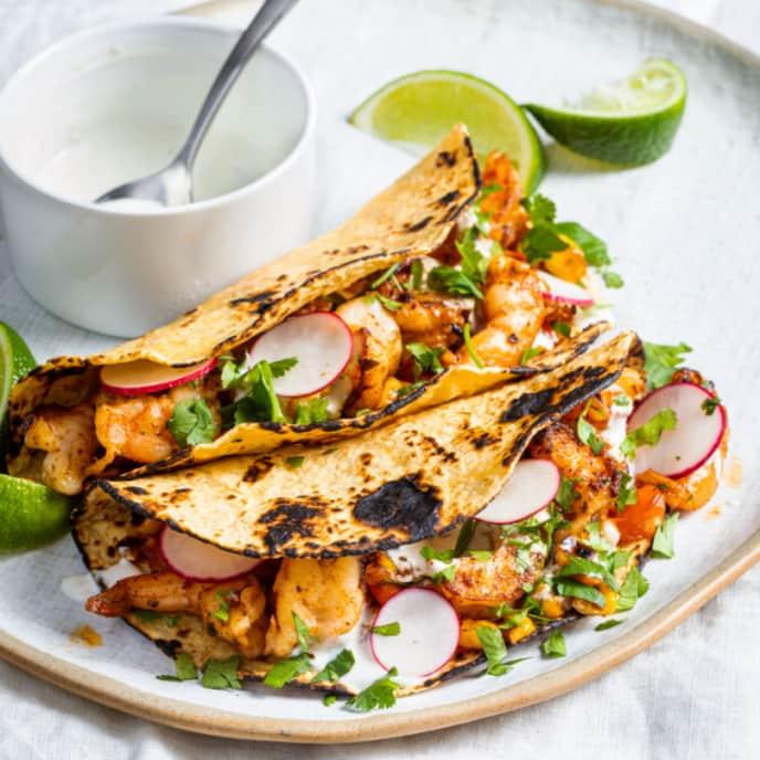 Chipotle Shrimp Tacos for One