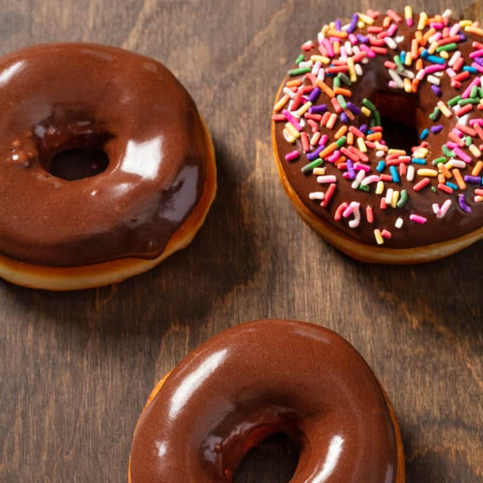 Yeasted Doughnuts with Chocolate Frosting