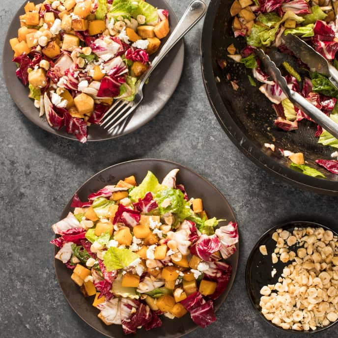 Chopped Winter Salad with Butternut Squash
