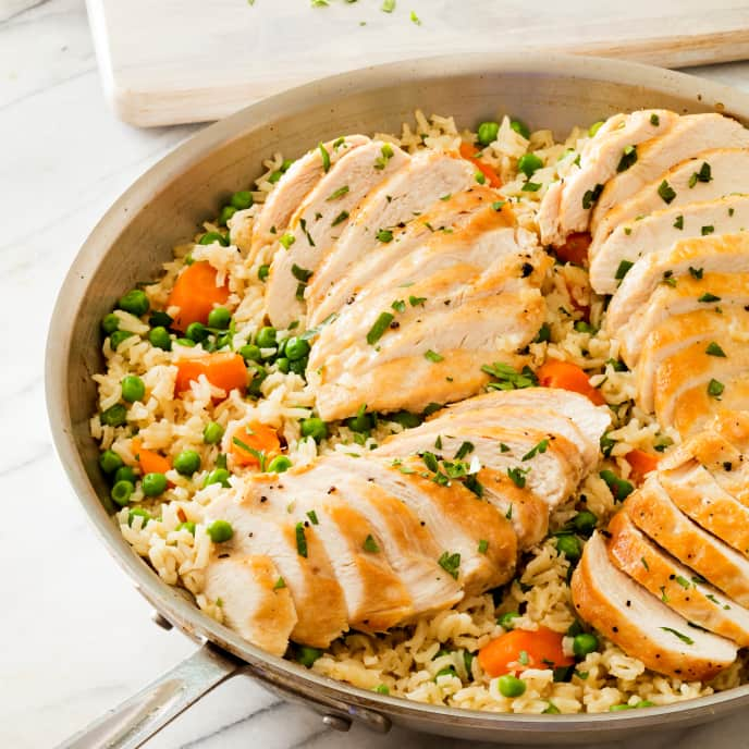 Classic Chicken and Rice with Carrots and Peas