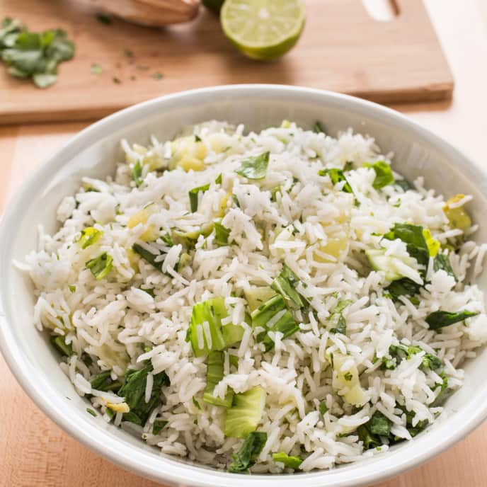 Coconut Rice with Bok Choy and Lime